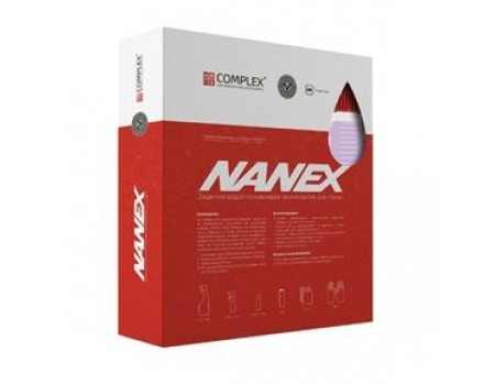 Защитное водоотталкивающее нанопокрытие для стекол NANEX (комплект)